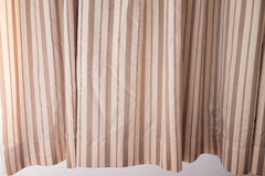 Fabric curtains in the grid Stock Image