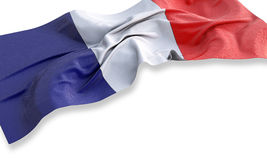 Fabric 3d illustration of the flag of France Royalty Free Stock Photos