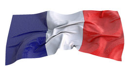 Fabric 3d illustration of the flag of France Stock Images