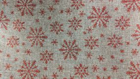 Fabric decorated with snowflakes royalty free illustration