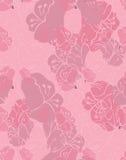 Fabric design flower pink Stock Photos