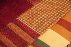 Fabric with diagonal lines Stock Photo