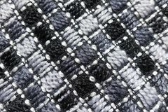 Fabric with diagonal stitches. Directly from above Royalty Free Stock Images