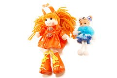 Fabric dolls toys Stock Photos