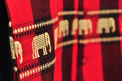 Fabric elephant texture, northeast, Thailand Stock Photography