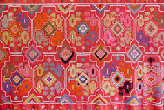 The fabric embroidered with oriental ornaments Stock Images