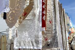 Fabric embroidery mediterranean Stock Images