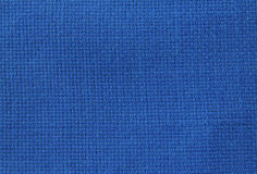 Fabric for embroidery. Natural linen fabric for embroidery (blue Stock Photography