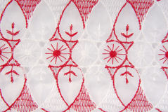 Fabric embroidery texture Royalty Free Stock Photography