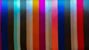 Fabric Fabric and Colorful Bar. Full color Bar of fabric  light and Shadow Royalty Free Stock Images