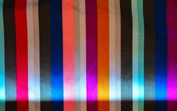 Fabric Fabric and Colorful Bar. Full color Bar of fabric  light and Shadow Royalty Free Stock Photography
