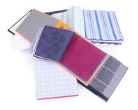 Fabric. fabric samples on background Stock Photo