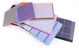 Fabric. fabric samples on background Royalty Free Stock Image
