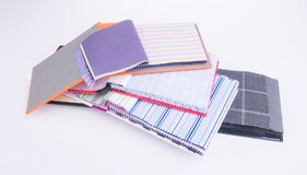 Fabric. fabric samples on background Royalty Free Stock Images