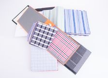 Fabric. fabric samples on background Royalty Free Stock Photo