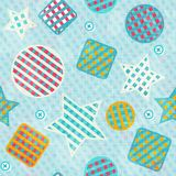 Fabric figures seamless pattern Royalty Free Stock Photos