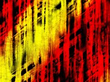 Fabric on fire. Abstract grunge background with fabric texture and scratches pattern Royalty Free Stock Photo