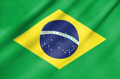 Fabric Flag of Brazil Royalty Free Stock Photo