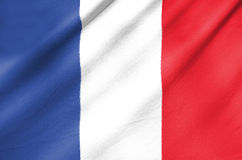 Fabric Flag of France Stock Image