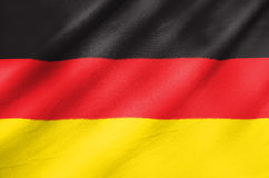 Fabric Flag of Germany stock photos