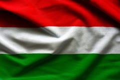 Fabric Flag of Hungary. Close up fabric background Royalty Free Stock Photo