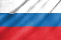 Fabric Flag of Russia. Waving in the wind Fabric Flag of Russia Royalty Free Stock Photos