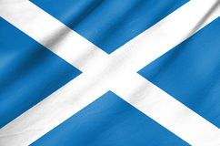 Fabric Flag of Scotland Stock Photo