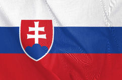 Fabric Flag of Slovakia Stock Photo