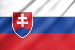 Fabric Flag of Slovakia Royalty Free Stock Photos