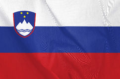 Fabric Flag of Slovenia stock image