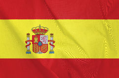 Fabric Flag of Spain Stock Image