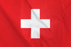 Fabric Flag of Switzerland Stock Photos