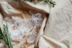 The fabric is a flesh color, which is crushed ice.Cooling, cocktail. The fabric is a flesh color, which is crushed ice. Cooling, cocktail stock image