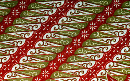 Fabric with floral batik pattern Royalty Free Stock Photo
