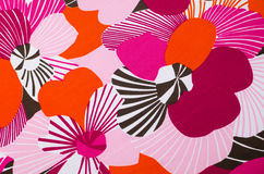 Fabric with floral motives background Stock Photo