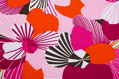 Fabric with floral motives Royalty Free Stock Photo