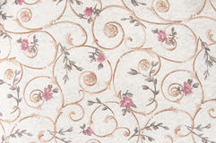 Fabric with floral pattern background. Texture close up Royalty Free Stock Photography