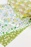Fabric with floral pattern set Royalty Free Stock Images