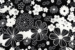 Fabric with flower pattern Royalty Free Stock Photography