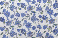 Fabric with flower pattern Royalty Free Stock Photo
