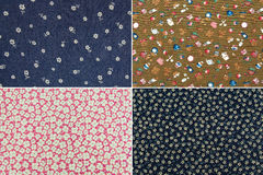 Fabric with flower pattern Stock Photography