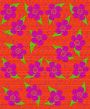 Fabric Flower Pattern Orange Stock Image