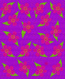 Fabric Flower Pattern Purple Royalty Free Stock Image