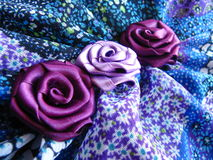 Fabric flowers Stock Photos