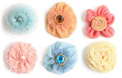 Fabric flowers Royalty Free Stock Photography