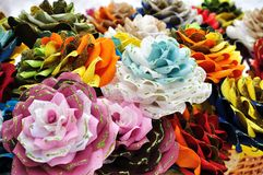 Fabric flowers royalty free stock photo