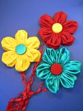 Fabric flowers Stock Images