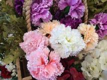 Fabric flowers closeup Royalty Free Stock Photo