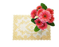 Fabric flowers gerbera Stock Photography