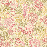 Fabric flowers seamless pattern background Royalty Free Stock Images